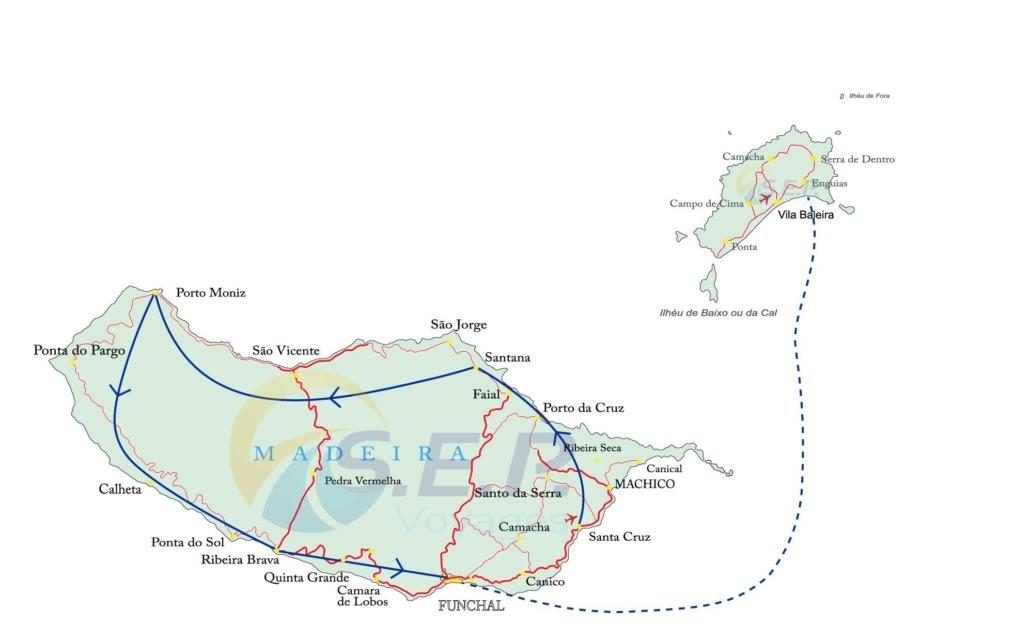 Tour de l'île de Madère et Porto Santo
