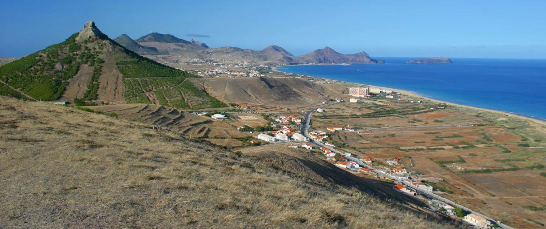Vue panoramique de l'île de Porto Santo sur l'Archipel de Madère